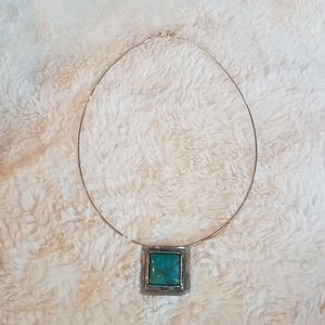 Sipada sterling and turquoise necklase